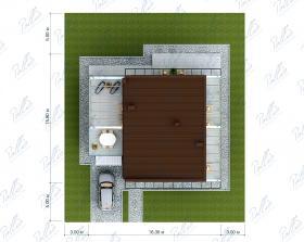 Расположение дома на участке X29