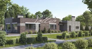 X28 Проект одноэтажного дома с плоской кровлей фото 2