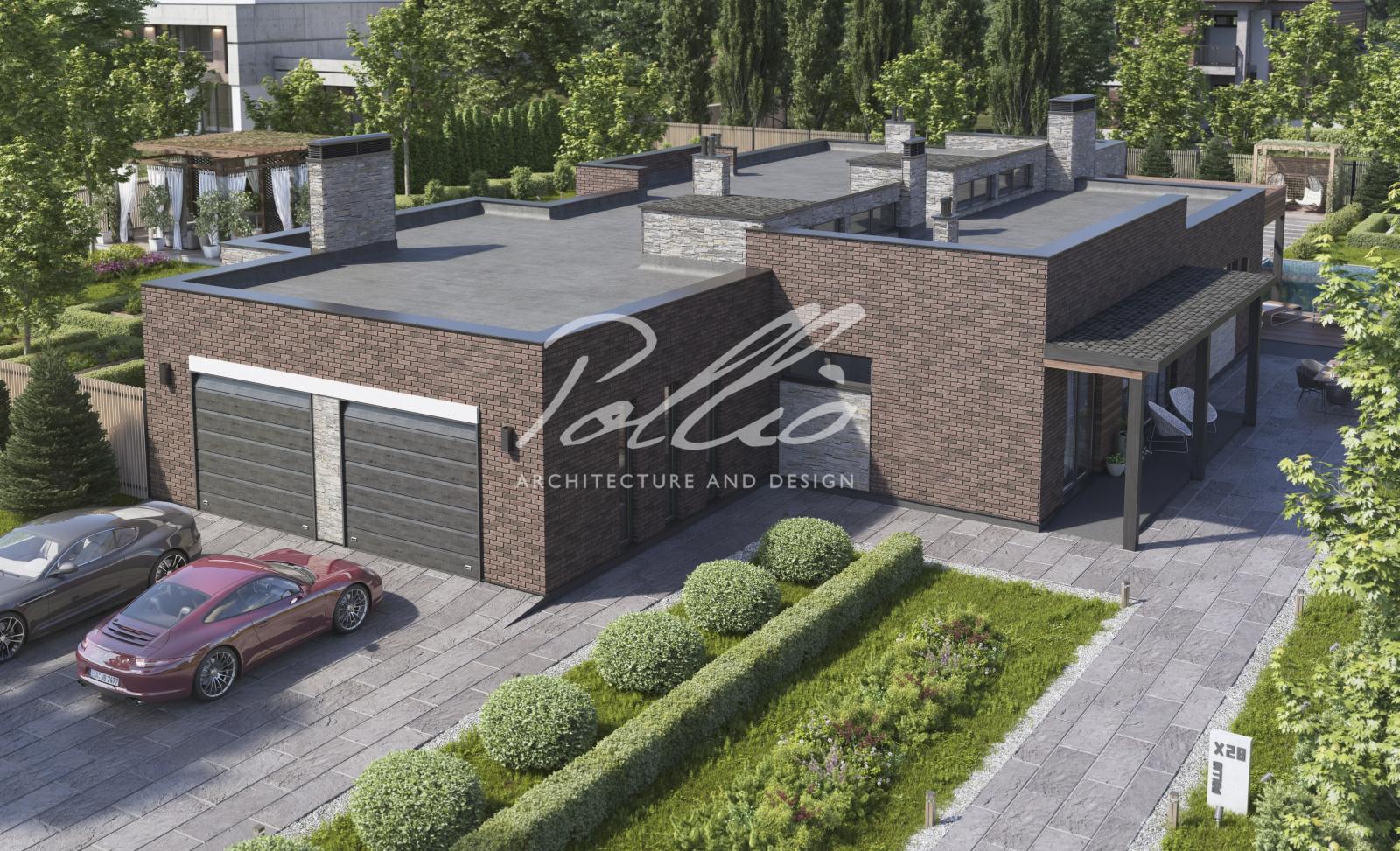 X28 Проект одноэтажного дома с плоской кровлей фото 3