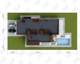 Расположение дома на участке X28