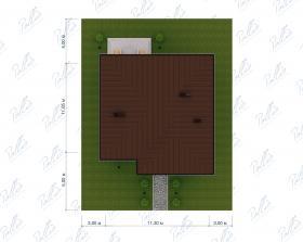 Расположение дома на участке X30