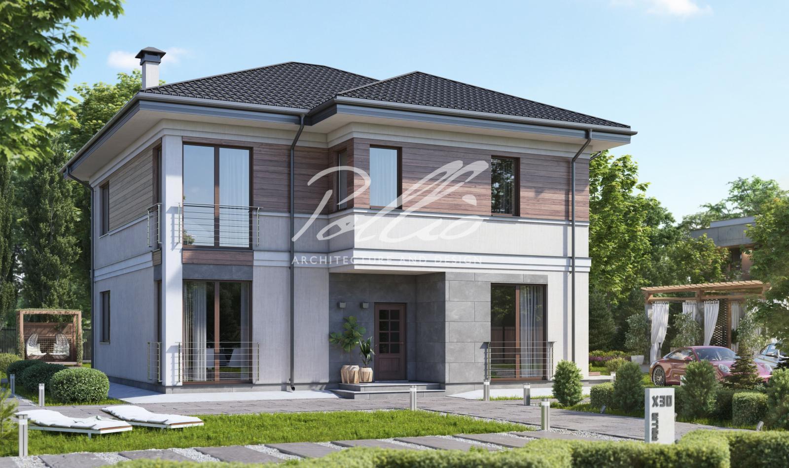 X30 Проект двухэтажного дома фото 1