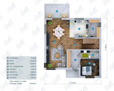 планировки первого этажа проекта X30