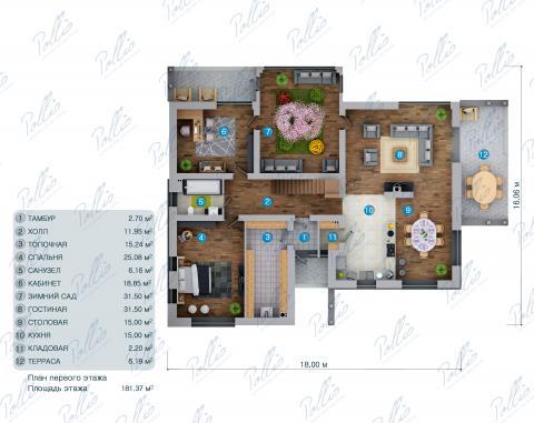 планировки первого этажа проекта X31