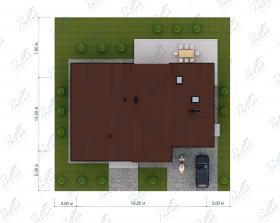 Расположение дома на участке X20a