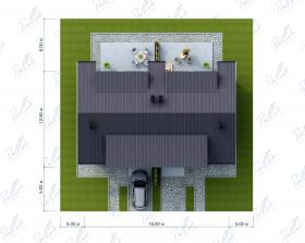 Расположение дома на участке Xb4