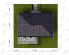 Расположение дома на участке X33