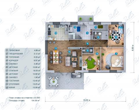 планировки первого этажа проекта X33