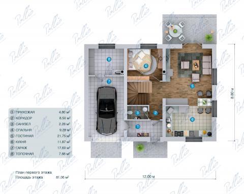 планировки первого этажа проекта X34