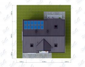 Расположение дома на участке X34