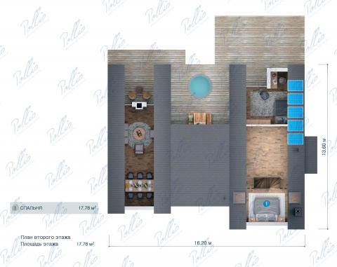 Планировка мансарды / 2го этажа X35