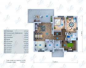Расположение дома на участке X36