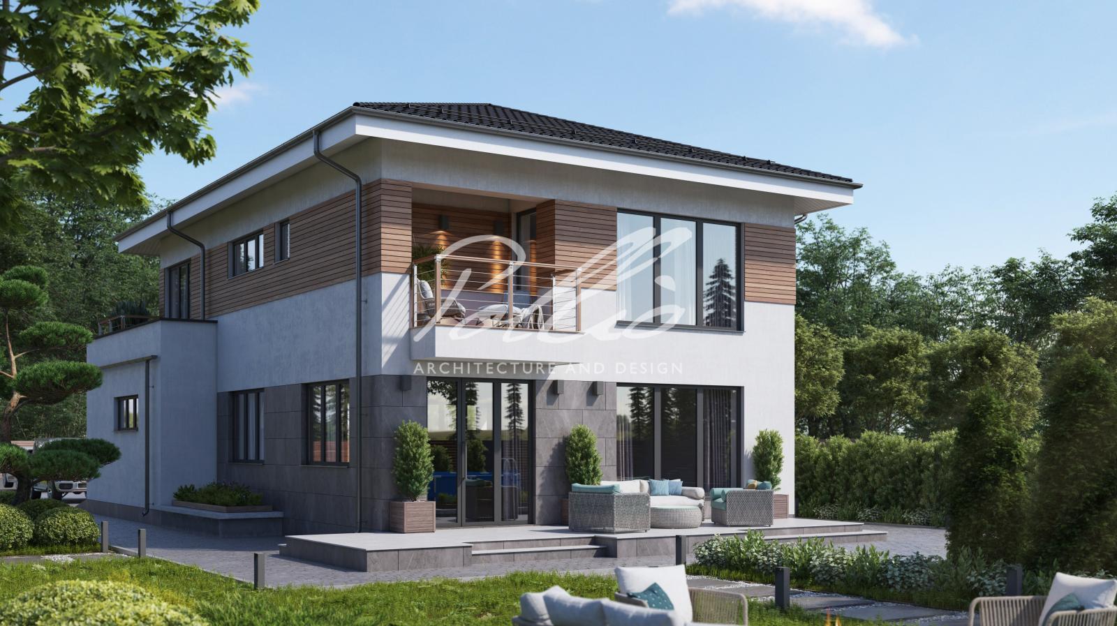 X38 Европейский проект двухэтажного дома фото 2