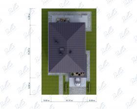 Расположение дома на участке X38