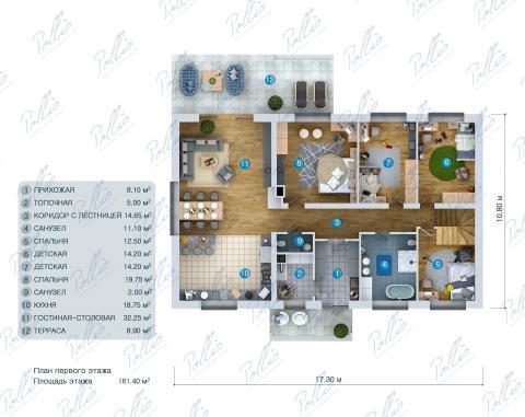 планировки первого этажа проекта X41