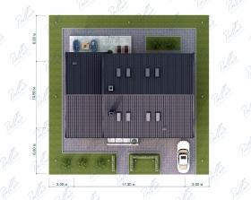 Расположение дома на участке X41